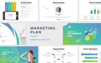 Marketing Plan Business Presentation PowerPoint template