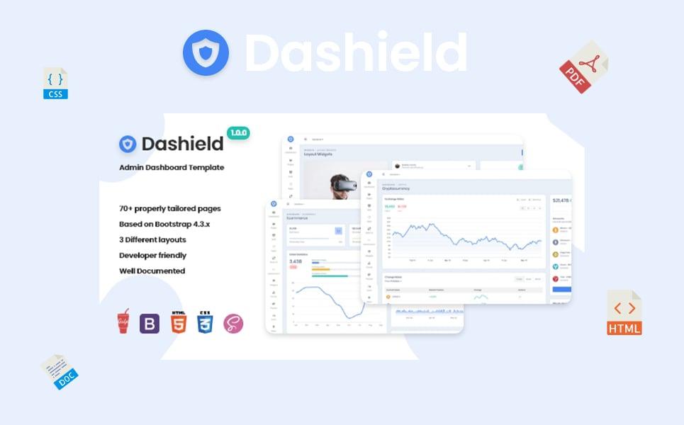 "Tema Admin Responsive #108075 ""Dashield - Bootstrap 4"""