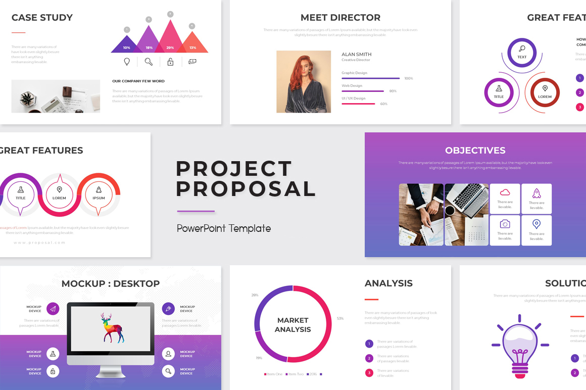 """Template PowerPoint #108058 """"Project Proposal"""""""