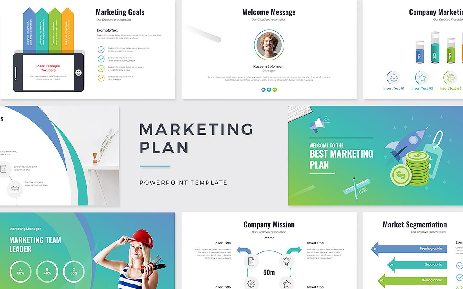 "Template PowerPoint #108064 ""Marketing Plan Business Presentation"""