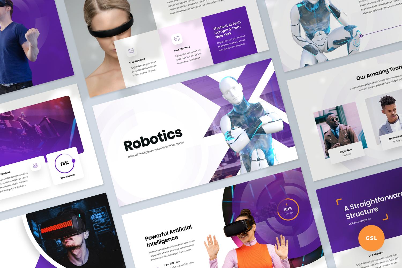 Artificial intelligence Presentation Google Slides