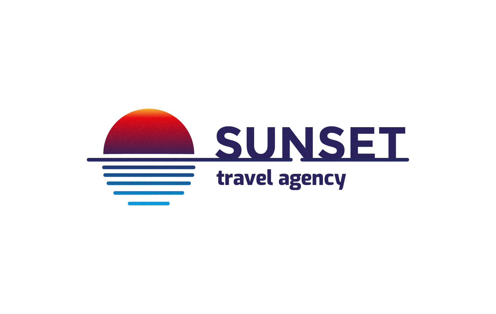 Sunset Travel Logo Template