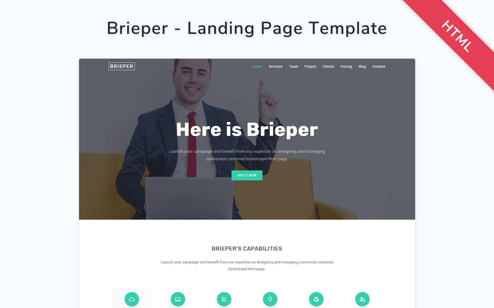 Brieper - Responsive Landing Page Template