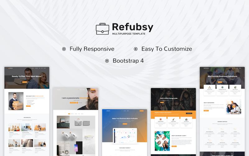 """Refubsy - Creative Multipurpose"" 响应式着陆页模板 #108324"