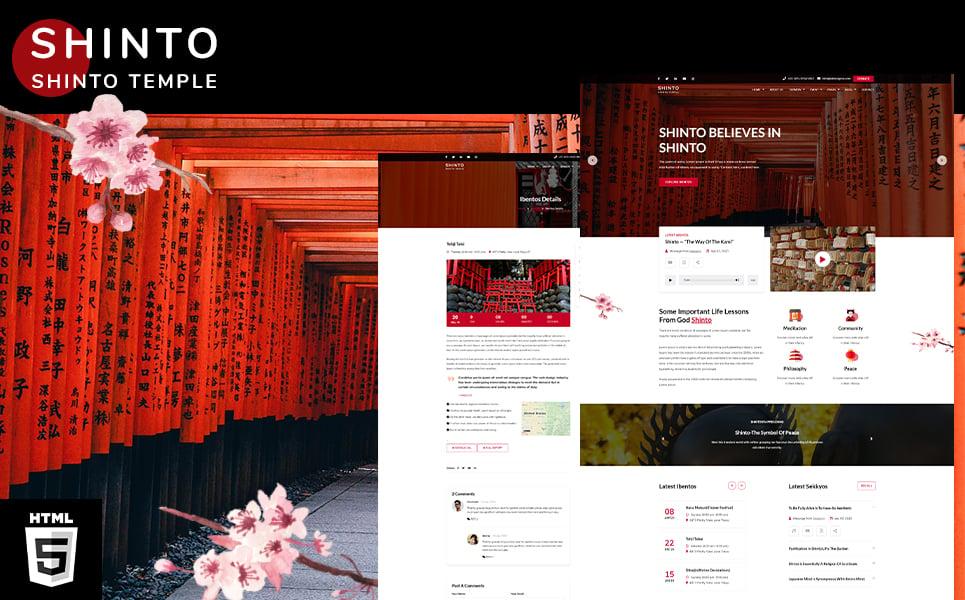 Reszponzív Shinto   kami Religion Temple HTML5 Weboldal sablon 108325