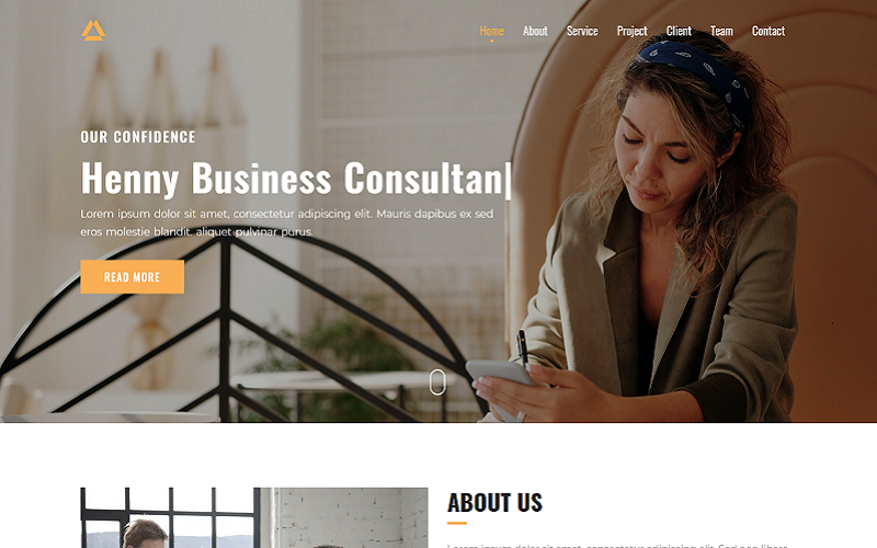 Henny Consultancy Landing Page Template