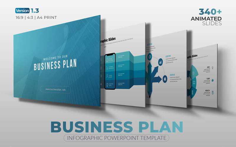 """Modello PowerPoint #108467 """"The Best Business-Plan"""""""