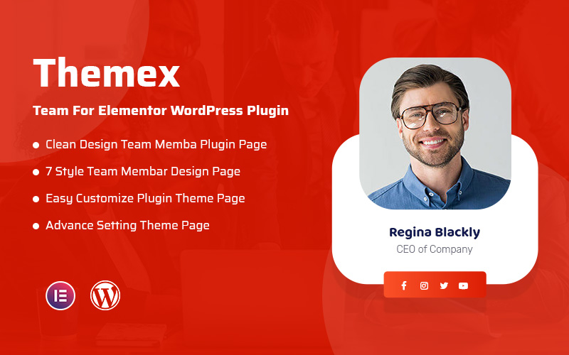 "Responzivní WordPress Plugin ""Themex Team For Elementor"" #108406"