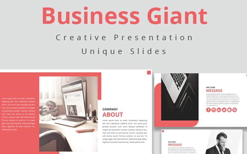 Szablon PowerPoint Business Giant #108470