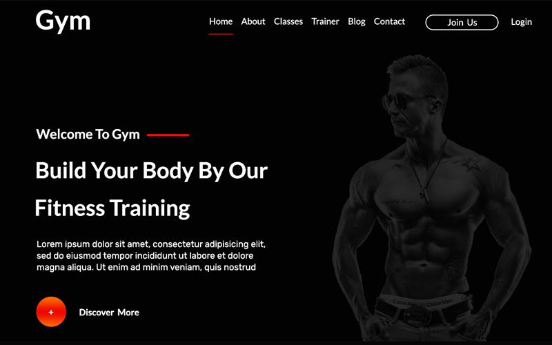 Szablon PSD Gym One Page Personal #108493