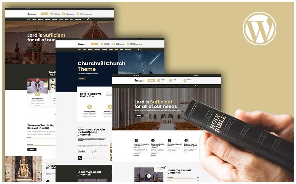 """Template WordPress Responsive #108490 """"Churchvill - Church"""""""