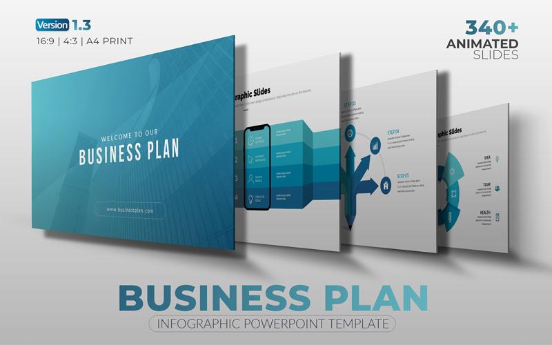 """The Best Business-Plan"" modèle PowerPoint  #108467"