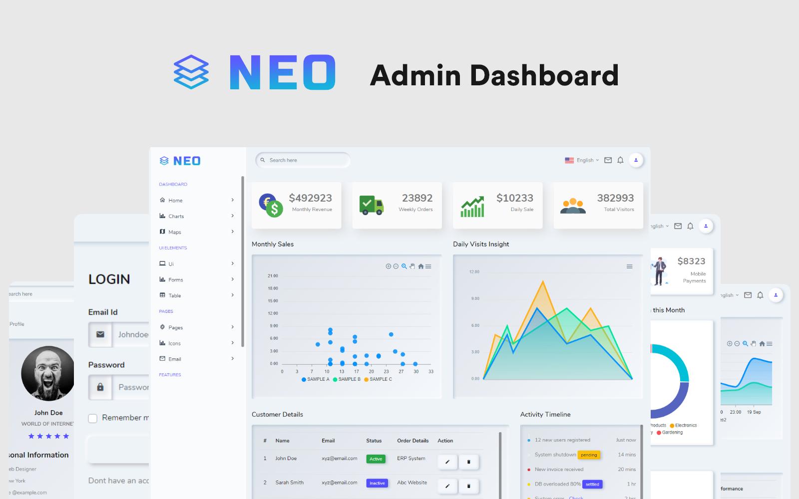 NEO Neumorphic Admin Template