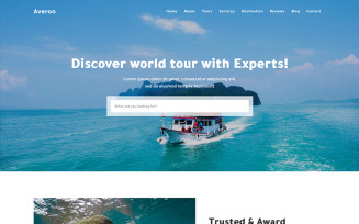 Averon Tour & Travel HTML Landing Page Template