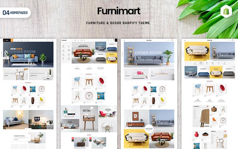 """Furnimart | Furniture & Decor"" Responsive Shopify Thema №108534"