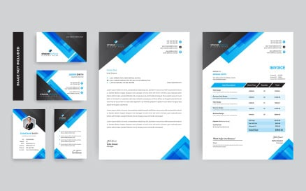 Eurovision Branding Stationery Corporate Identity Template