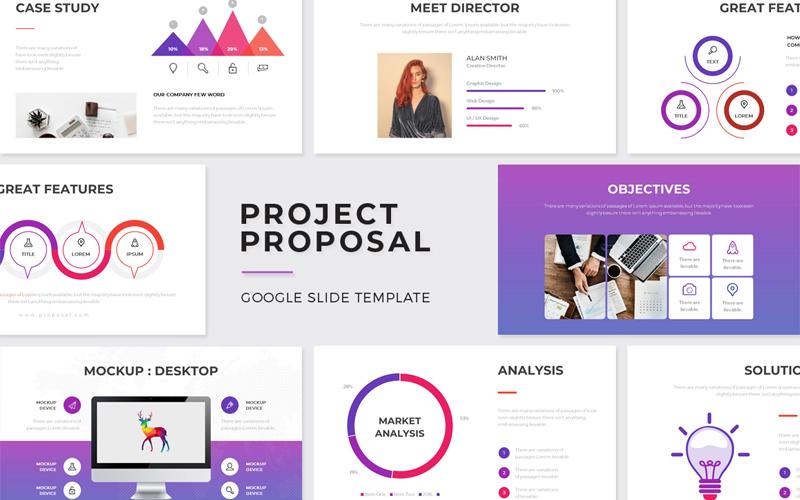"Template Google Slides #108655 ""Project Proposal"""