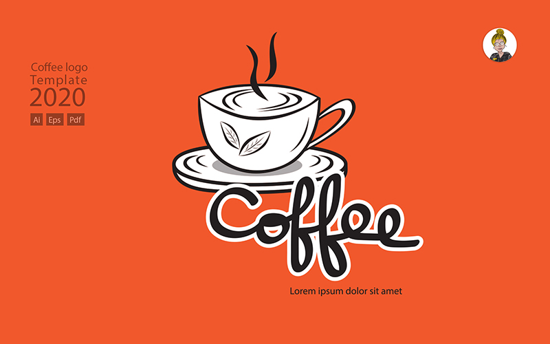 Coffee Vector for Drink Shop Logo Template