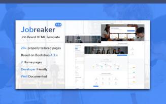 Jobreaker – Job Board HTML5 Website Template
