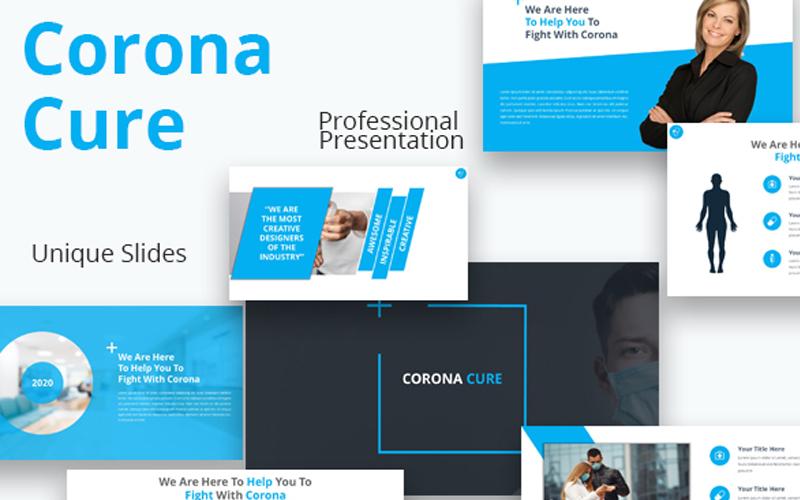 Szablon PowerPoint Corona Cure #108709