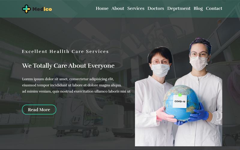 Szablon PSD Medico One Page Personal #108792