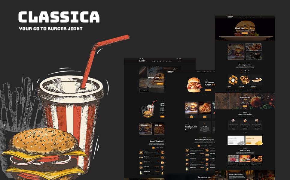 "Template Siti Web Responsive #108793 ""Classica - Burger Joint HTML5"""