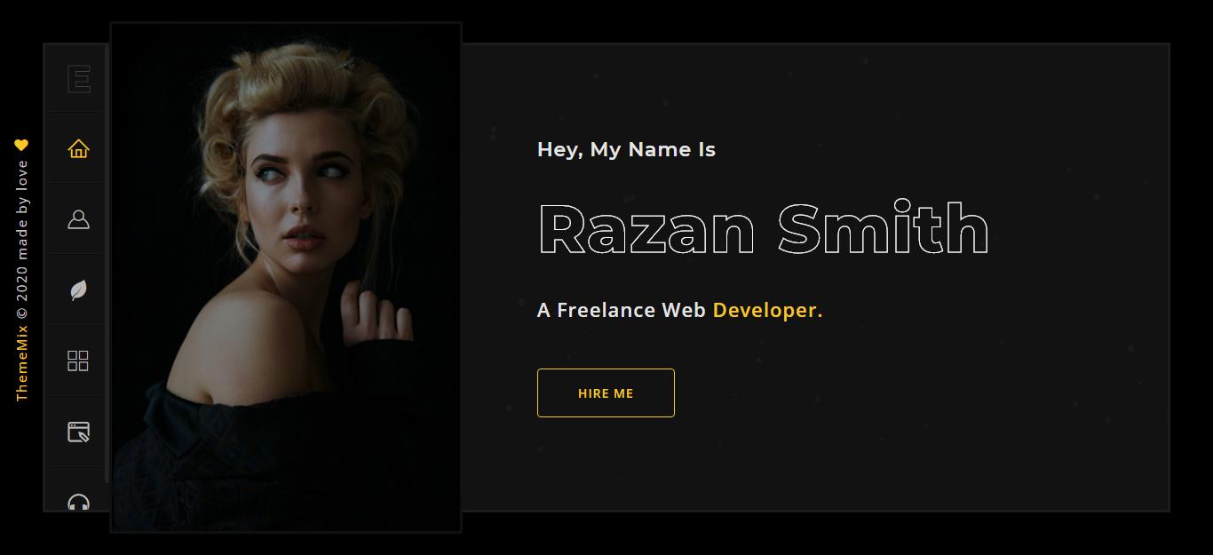 Emir - Creative Portfolio Landing Page Template