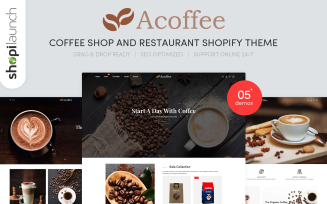Acoffee - Coffee Shop And Restaurant Shopify Theme