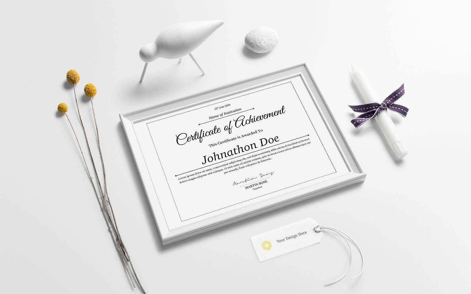 Clean Certificate Template 108957