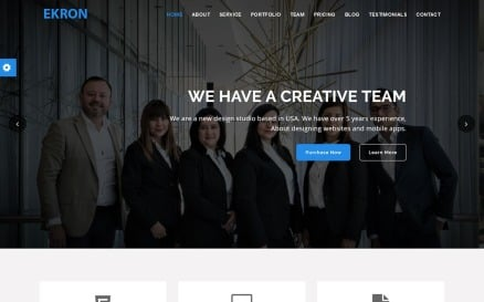 Ekron - Material design Agency Landing Page Template