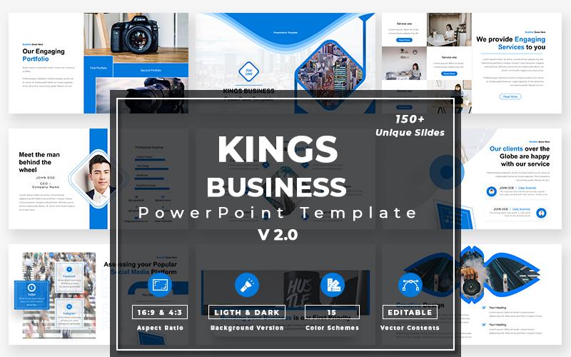 """""""Kings Business - v2.0"""" modèle PowerPoint Premium #108905"""