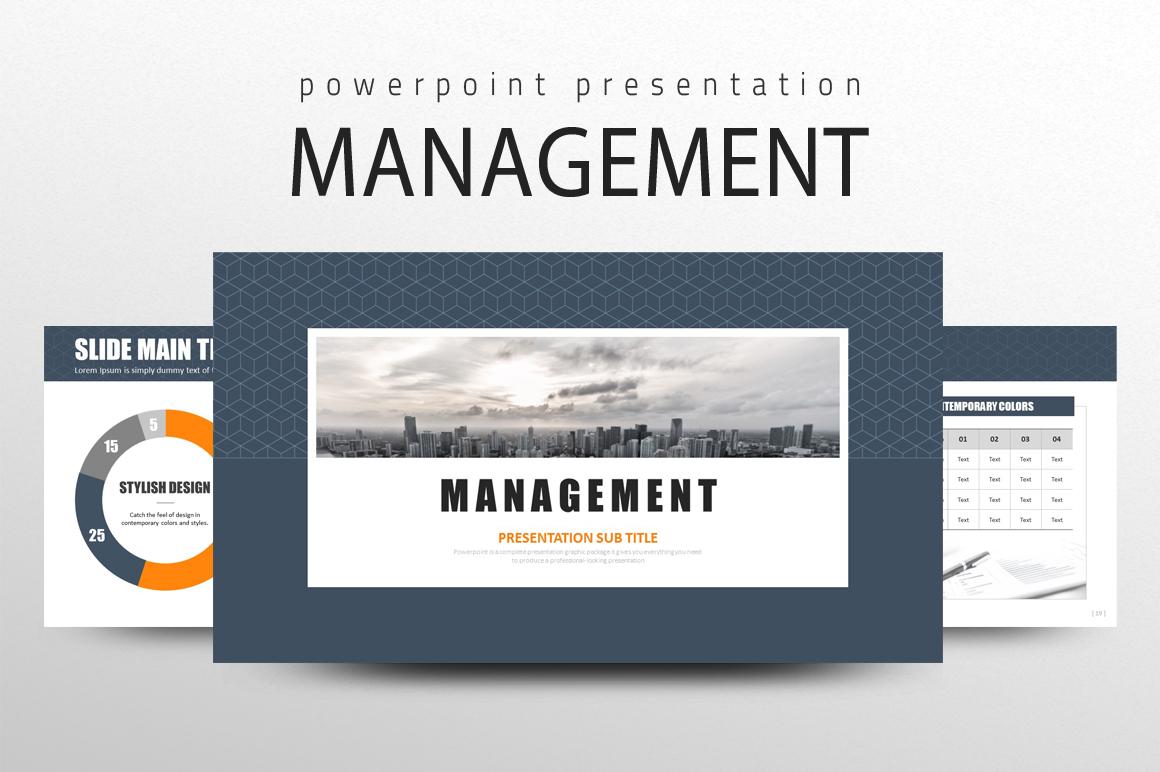 """Management PPT"" PowerPoint 模板 #108902"