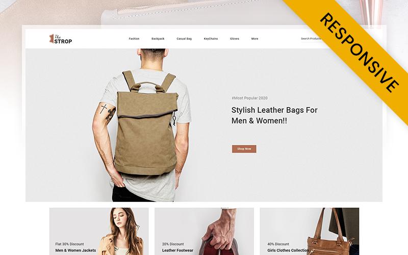 """Responzivní OpenCart šablona """"The Strop Leather Store"""" #108981"""