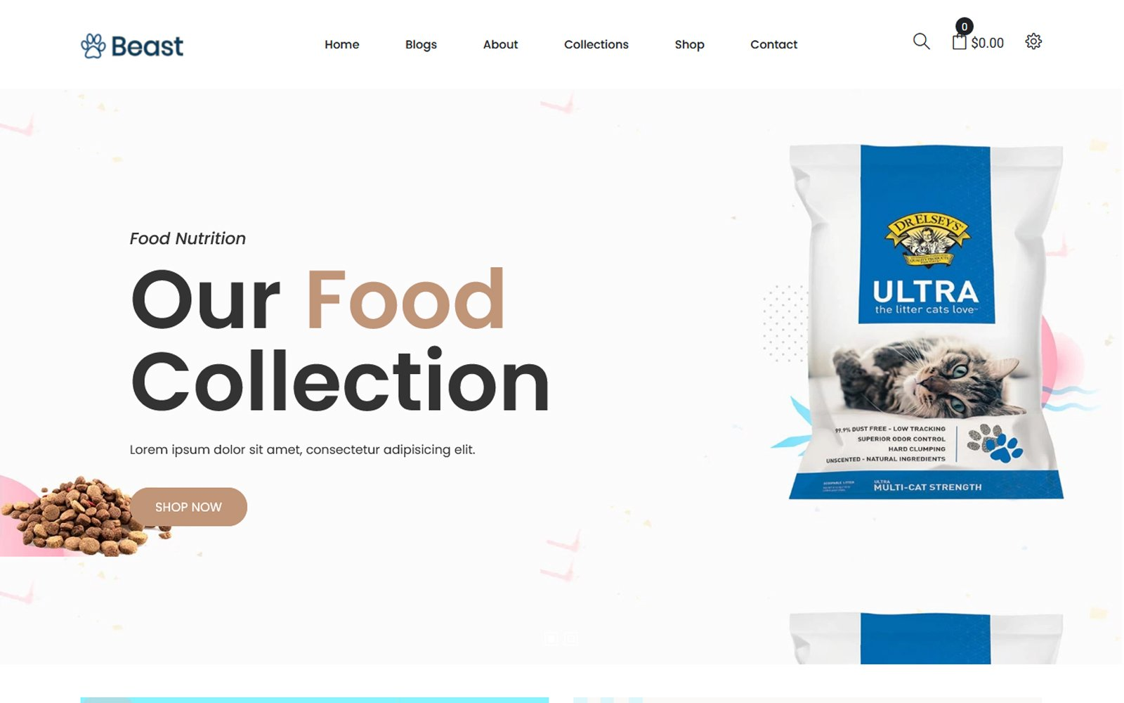 "Tema Shopify ""Beast - Pet Food"" #108977"