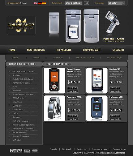10957 osc b Free osCommerce Templates