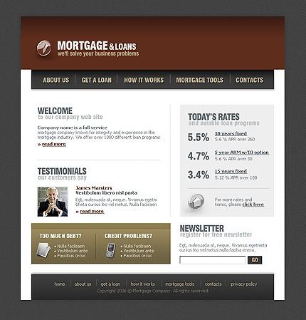Шаблон сайта на Flash (Template Monster № 10970)