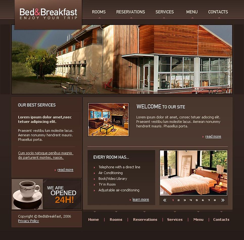 Mod le web 10995 pour site d 39 h tel for Site web pour hotel
