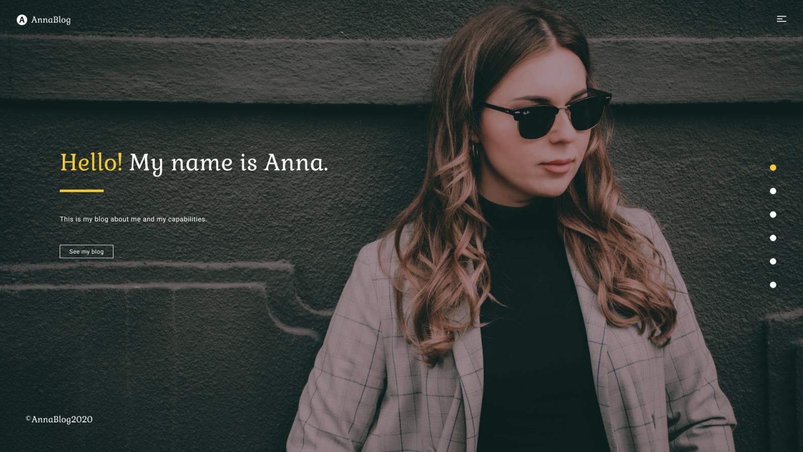 AnnaBlog - HTML Portfolio Landing Page Template