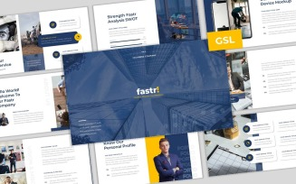 Fastr - Creative Company Business Google Slides Template