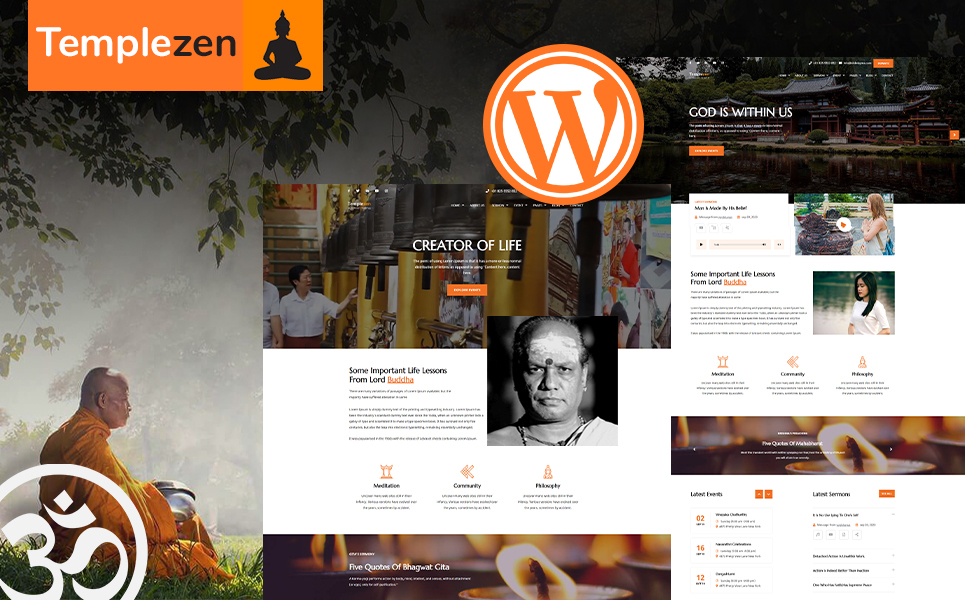 Responsywny motyw WordPress Templezen - Temple #109211