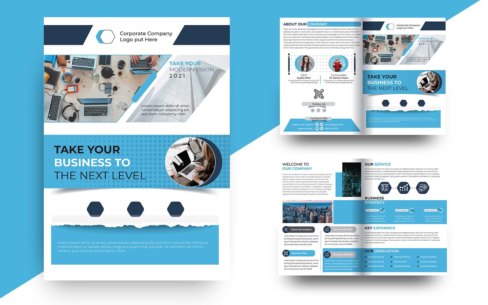 Bi fold Brochure Design Corporate Identity Template