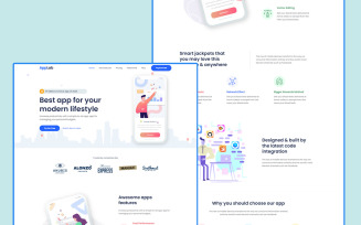 AppLab - App Html Landing Page Template