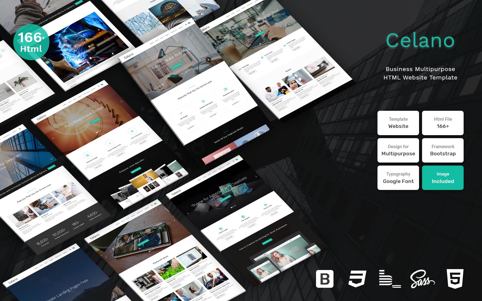 """Responzivní Šablona webových stránek """"Celano - Business Multipurpose Clean Bootstrap"""" #109407"""