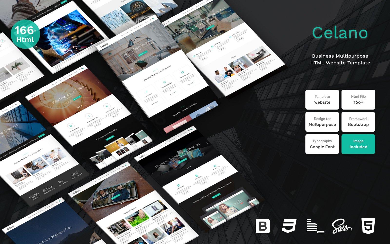 Reszponzív Celano - Business Multipurpose Clean Bootstrap Weboldal sablon 109407