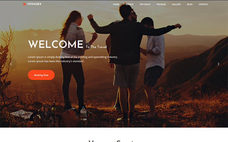 """Voyagex – Tour and Travel Agency"" - адаптивний WordPress шаблон №109404"