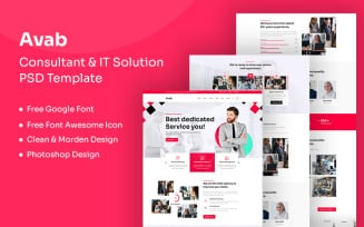 Avab - Consulting & It Solution PSD Template
