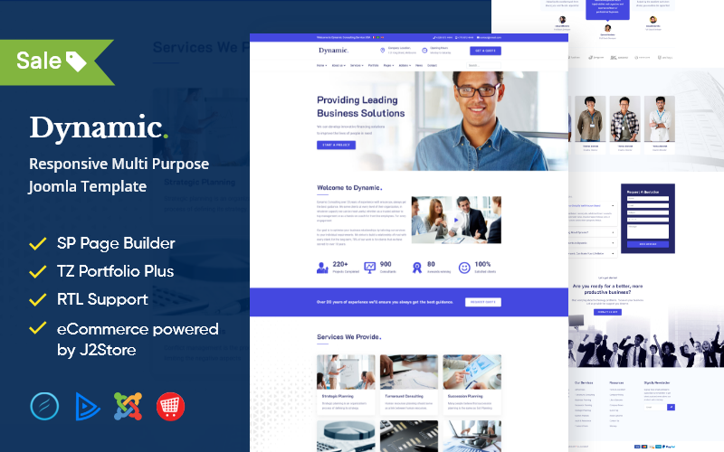 Dynamic - Multipurpose Business Joomla Template