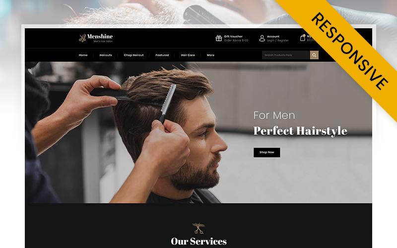 "Modello OpenCart Responsive #109595 ""Menshine - Hair Salon Store"""