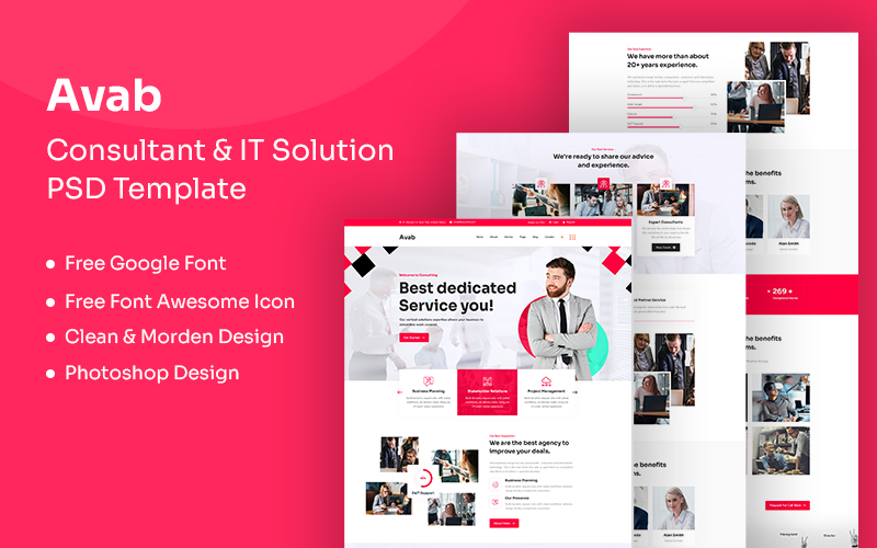 Szablon PSD Avab - Consulting & It Solution #109599