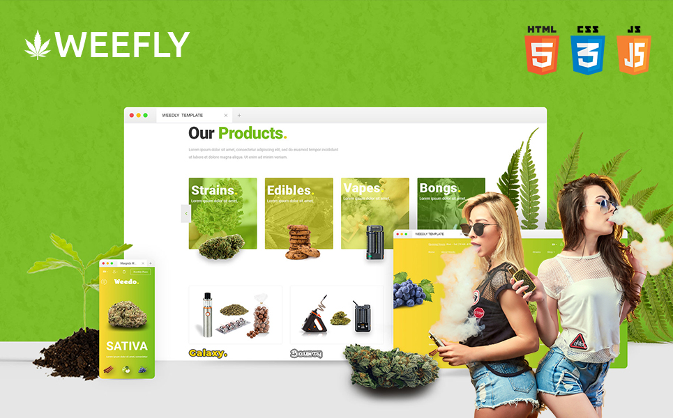 "Template Siti Web Responsive #109597 ""Weefly 